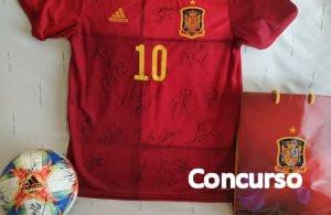 Camiseta Española firmada en Ourense