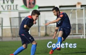 Gran partido del cadete de Xavi y Grela