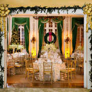 Sulgrave Club, Washington DC dining room set for a December wedding, photo Tracey Attlee