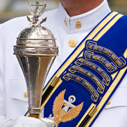 Baldric and Sash, US Navy Band, Arlington Cemetery, photo by Tracey Attlee