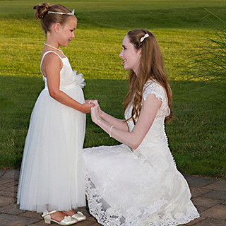 The Flower Girl and the Bride, Spring Lake Golf Club, Spring Lake NJ photo Tracey Attlee