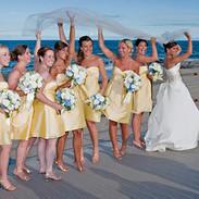 Wedding veil fun on the boardwalk, Spring Lake, NJ photo by Tracey Attlee