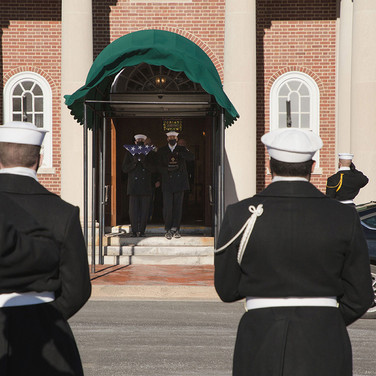 Bringing Him Home to Rest Departing Old Post Chapel for Arlington Cemetery