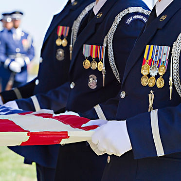 Air Force Full Honors vignette at Arlington Cemetery, photo by Tracey Attlee