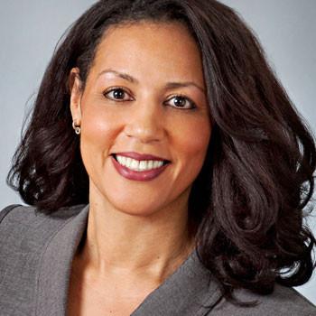 Female lawyer's business portrait on pearl gray backdrop