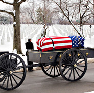 Navy Full Honors in Winter, Arlington Cemetery, photo by Tracey Attlee