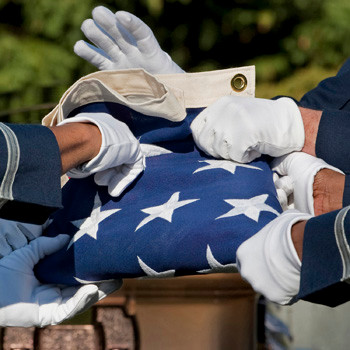Air Force Flag Folding for the Fallen, photo by Tracey Attlee