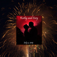 Fourth of July wedding album cover designed by Tracey Attlee