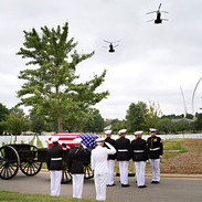 US Marine Flyover at Arlington Cemetery photo by Tracey Attlee