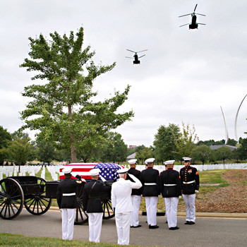 Flyover, US Marines, Arlington National Cemetery, photo by Tracey Attlee