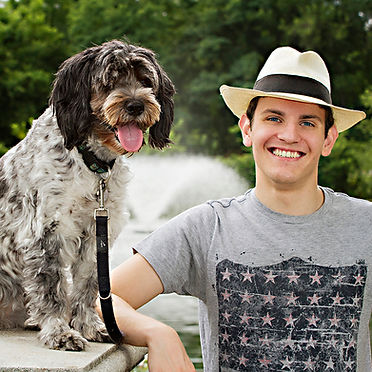 A young man and his dog in Ben Brenman Park, Alexandria, VA photo by Tracey Attlee
