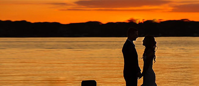 Sunset on the Wedding Dock photo by Tracey Attlee