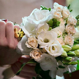 Love ring vignette with bouquet, a DC gay wedding, photo Tracey Attlee