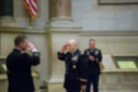 US Army Colonel Carlos Martinez at his Promotion Ceremony in the National Archives, Washington, DC - Photo by Tracey Attlee