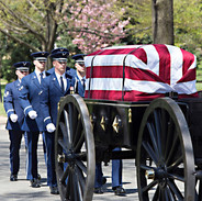 Air Force Casket Bearers, spring, Arlington Cemetery photo by Tracey Attlee