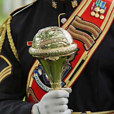 The Ceremonial Mace of Pershing's Own, photo by Tracey Attlee