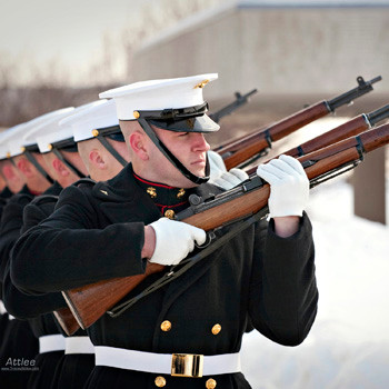 Marines in Winter, Arlington National Cemetery, photo by Todd A. Smith for Attlee Photo Video