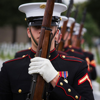 Marines Honoring the Fallen, Arlington National Cemetery, photo by Tracey Attlee