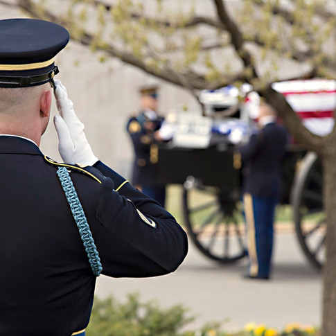 Army Full Honors, spring, Arlington National Cemetery, photo by Tracey Attlee