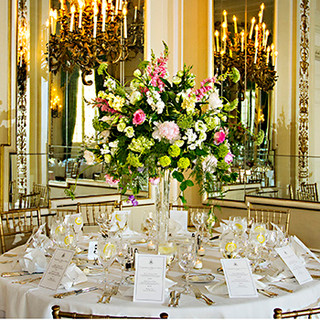 Table set for a May wedding at The Sulgrave Club, Washington, DC photo Tracey Attlee
