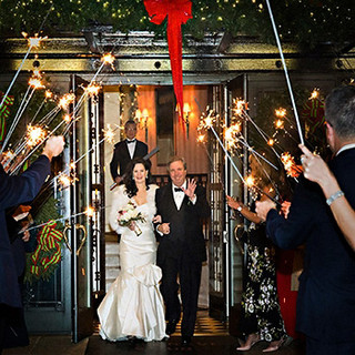 Sparklers Wedding Departure, The Sulgrave Club, Washington, DC photo by Tracey Attlee
