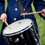 Keeping the Beat, Air Force Drummer, Arlington Cemetery, photo by Tracey Attlee