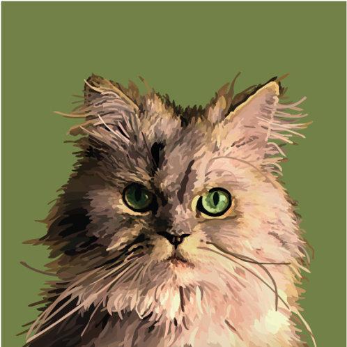 Emerald Cat Print