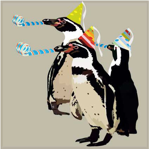 Happy Birthday Penguins Greeting Card