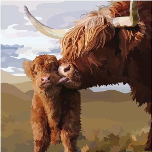 Highland Kiss Greeting Card