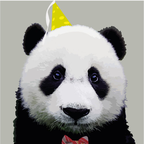 Happy Birthday Panda Greeting Card