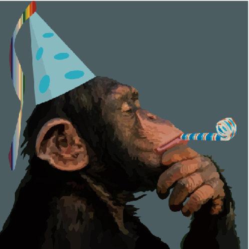 Happy Birthday Chimpanzee Greeting Card