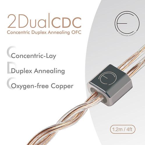 2DualCDC Oxygen-Free-Copper Hi-End  IEM Upgrade Cable