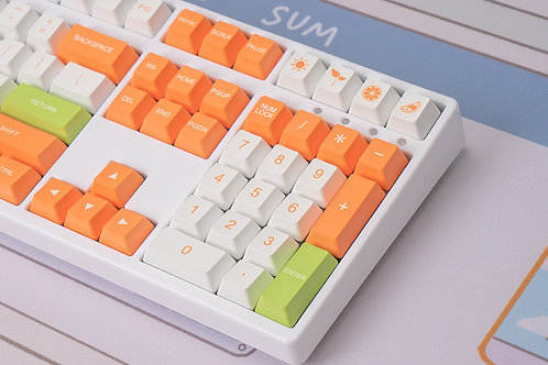 Sugar Orange Cherry Profile Keycaps 134 Keys