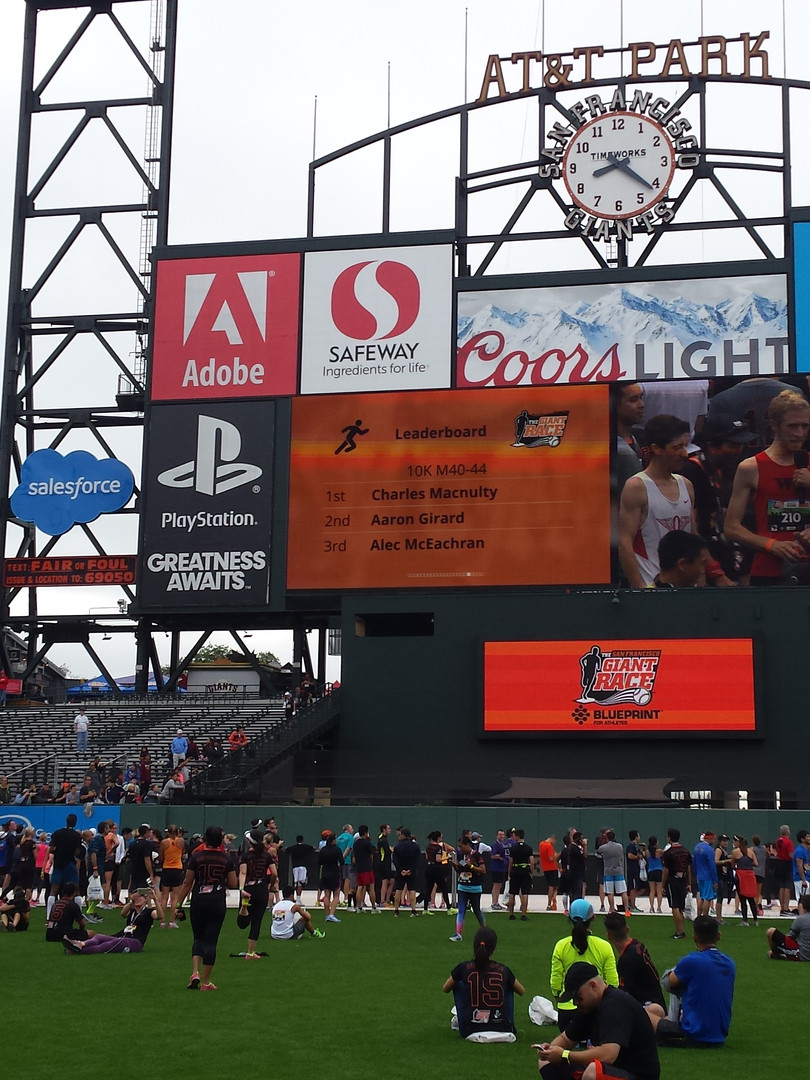 Pitch Promotion at San Francisco Giants Race in AT&T Park