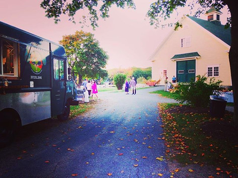 Lovely Fall Wedding at Laudholm Farm in Wells, Maine.