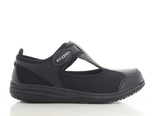 FS013BLK-Oxypas Candy Comfortable Strap Shoes (BLACK)