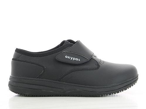 FS014BLK- Oxypas Emily Velcro Shoes (BLACK)