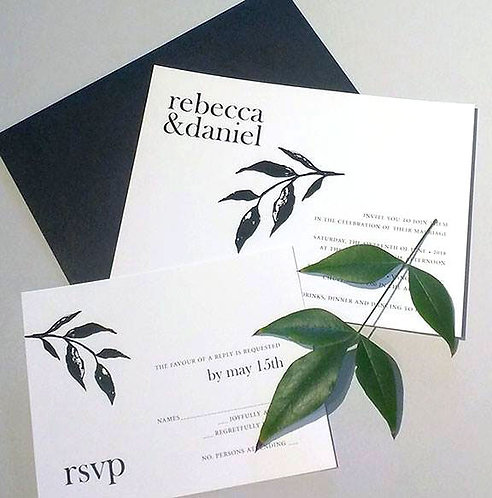 Rebecca Invitation & Envelope