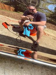 After reflection selfie