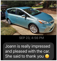 Customer loved her vehicle.