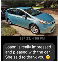 Customer loved her vehicle.
