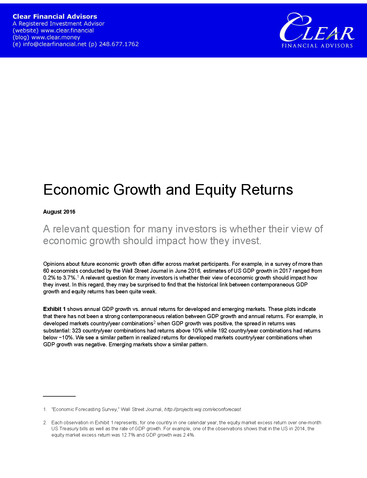 Clear Financial - Economic Growth and Equity Returns_Page_1