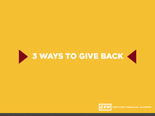 Giving Back: More Than One Way to Support Your Alma Mater