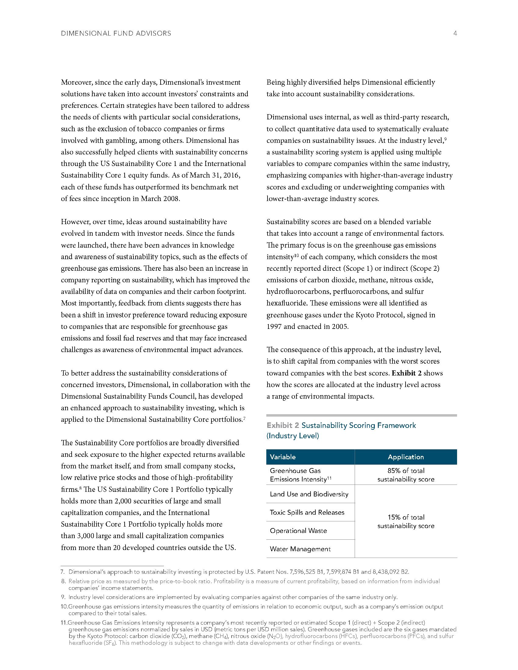 Sustainability Investing CFP DFA 4
