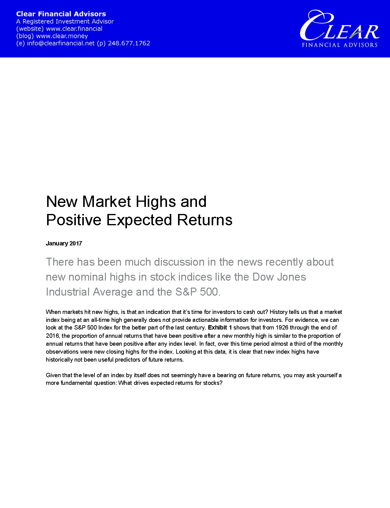 New Market Highs and Positive Expected Returns_Page_1