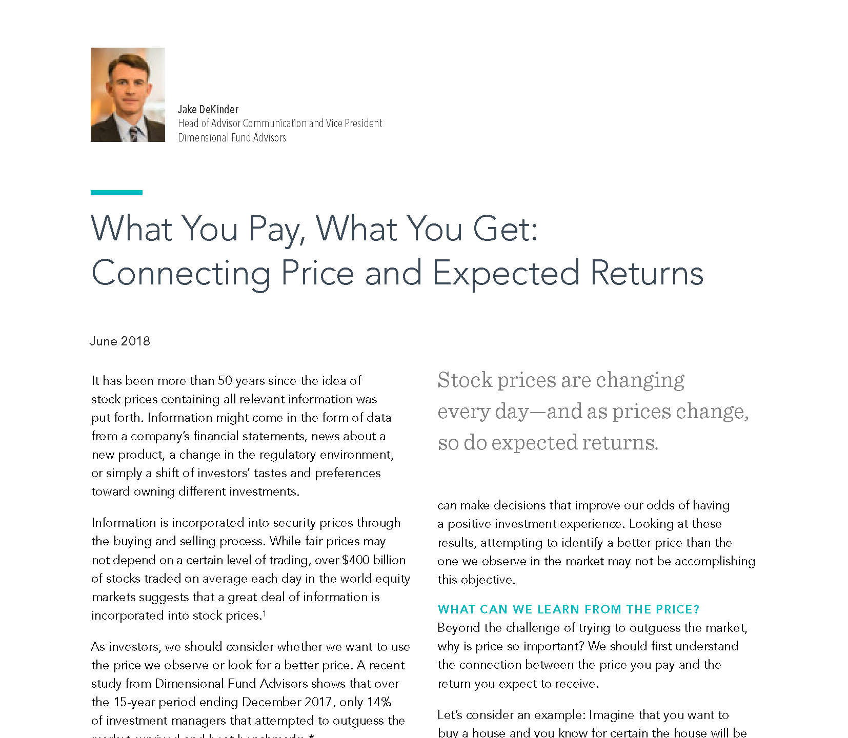 What You Pay_ What You Get_ Connecting Price and Expected Returns_Page_1