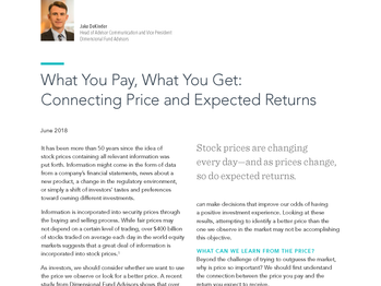 What You Pay, What You Get: Connecting Price and Expected Returns