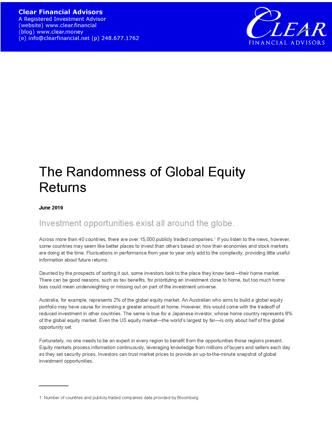 201906 The Randomness of Global Equity R