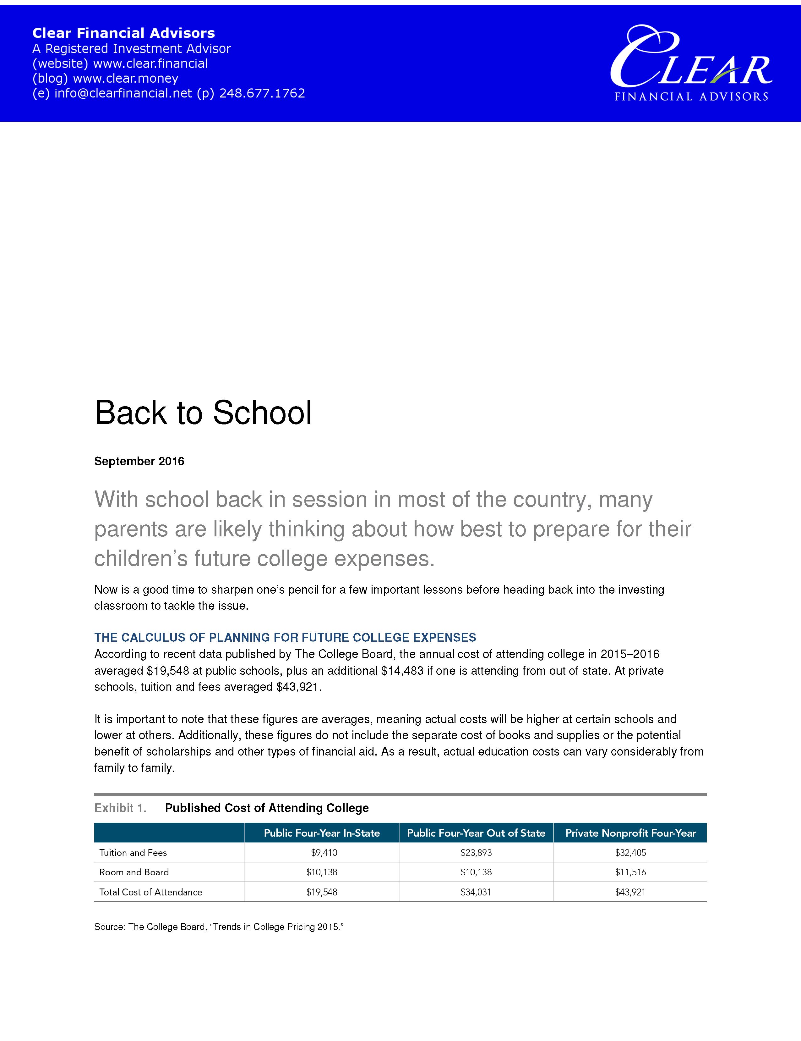 Education Savings Account ESA 1