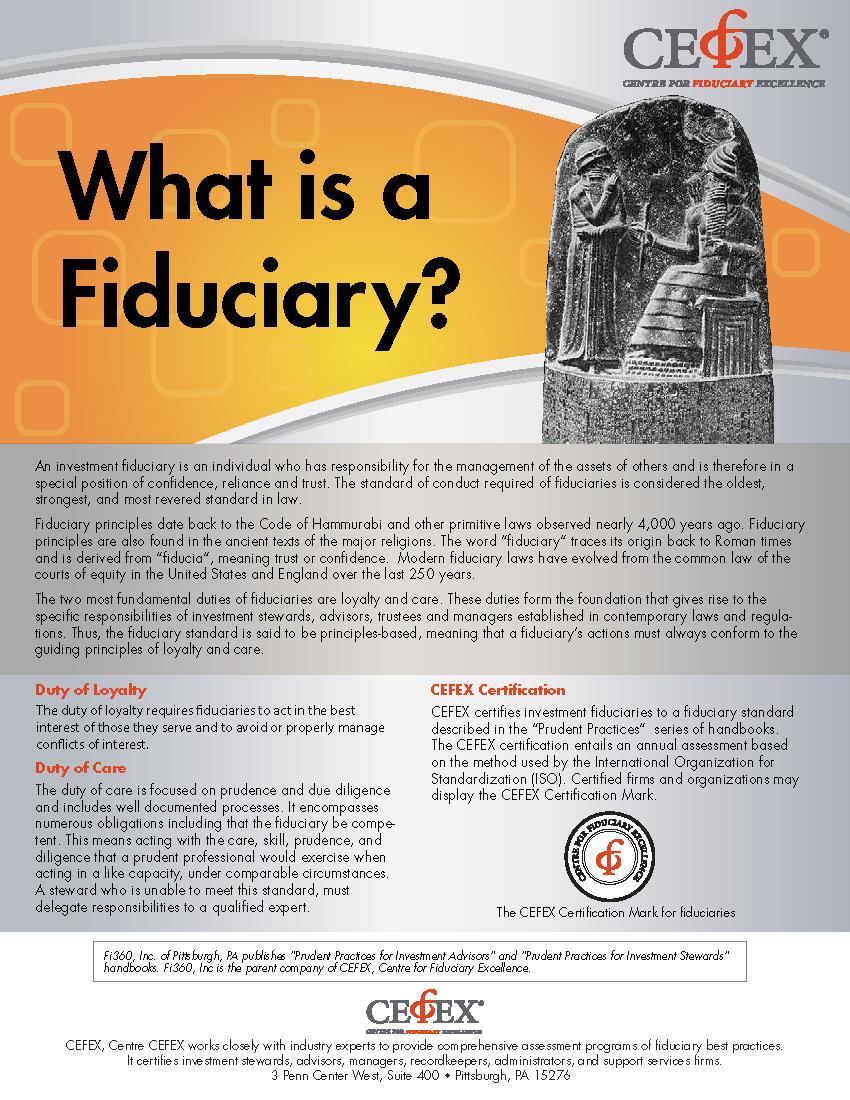 fiduciary cefex financial advisor cfp